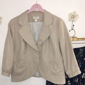 LOFT Linen and Cotton Blazer with Subtle Shimmer